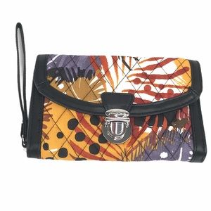 Vera Bradley Ultimate Wristlet, Painted Feathers